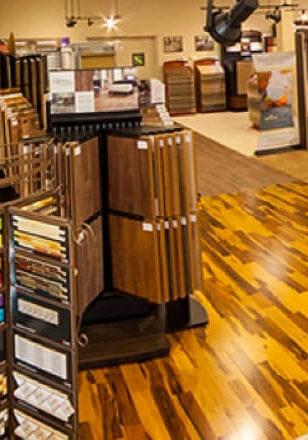 Variety of flooring products in showroom | Total Flooring Source